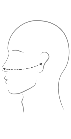 Peace Silk® Face Mask Measurement